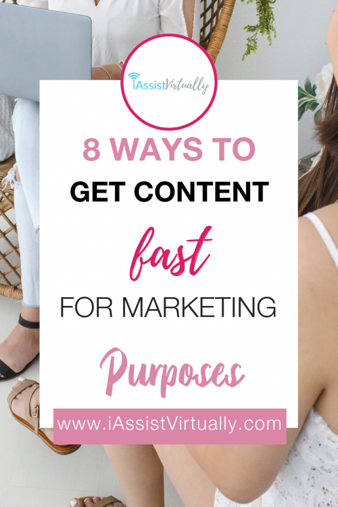 Pinterest Eight Ways to Get Content Fast for Marketing Purposes