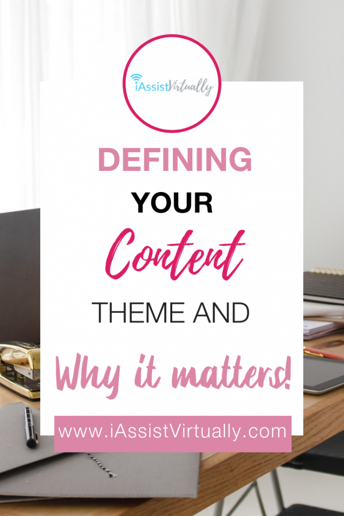 defining your content theme pinterest